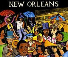New Orleans parasollen en muziek