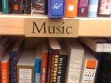 boekschap met muziekboeken