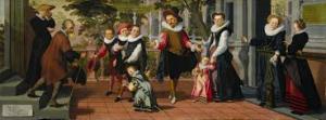 schilderij ouders en kinderen