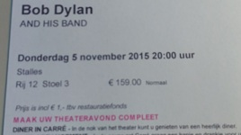 ticket Bob Dylan Carré paint