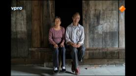 Chinees echtpaar Langs de oever van de Yangtze