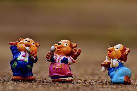 drie zingende eekhoorns