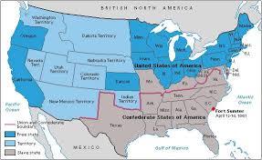 Kaart van Amerikaanse burgeroorlog2