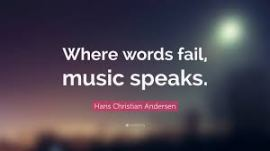 where words fail, music speaks blauw rood
