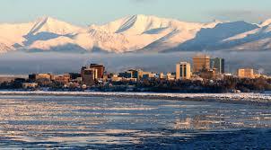 Anchorage, Alaska vanuit zee