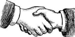 handenschudden ouderwets