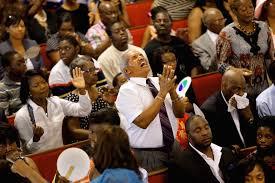 zwarte kerkdienst
