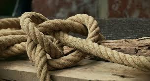 touw in de knoop