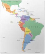kaart zuid midden amerika